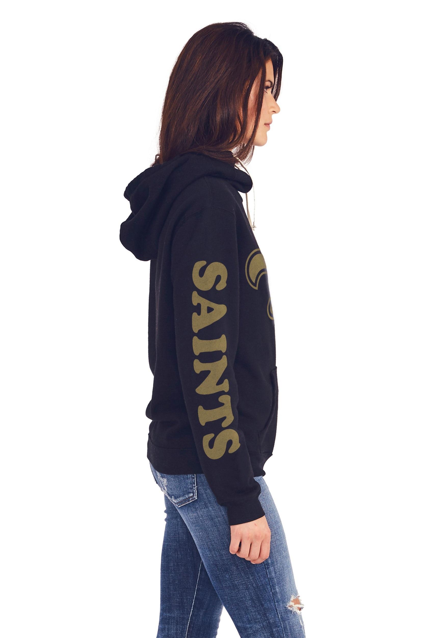 New Orleans Saints Women s Cowl Neck Hooded Sweatshirt 11203dcaf3