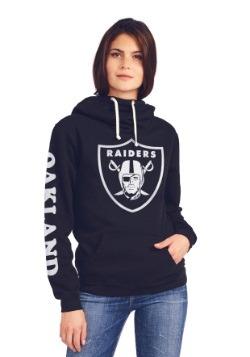 Oakland Raiders Cowl Neck Womens Hoodie