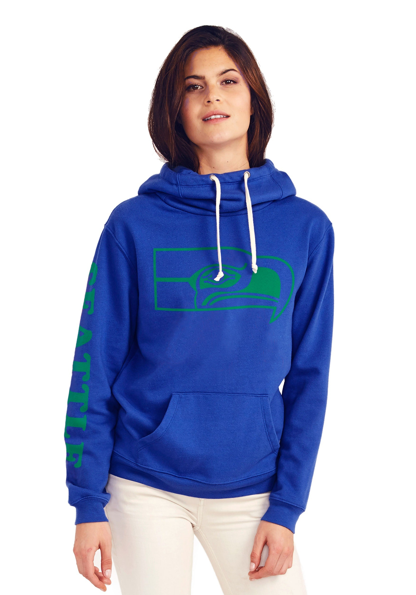 Seattle Seahawks Women's Cowl Neck Hooded Sweatshirt