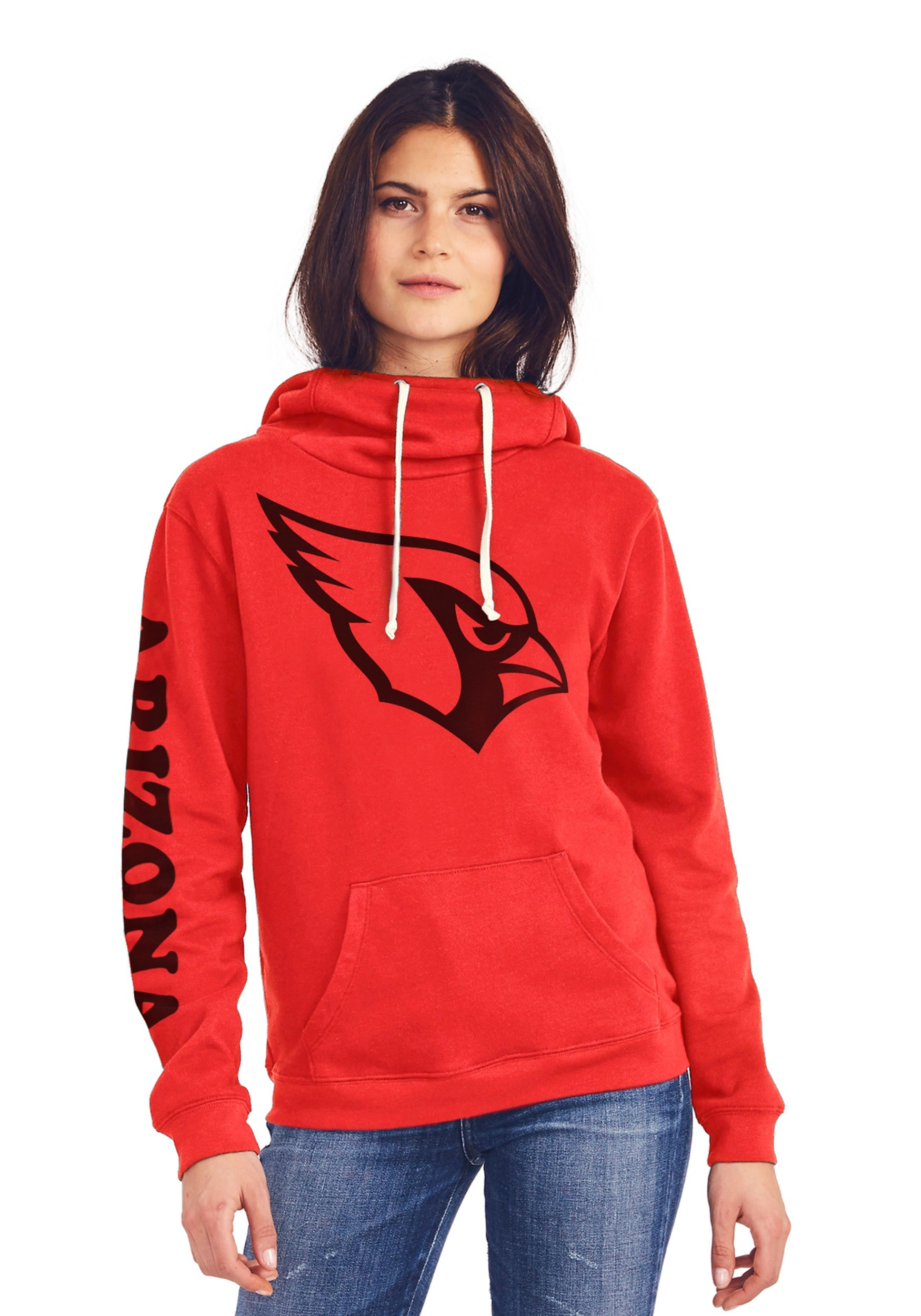 Arizona Cardinals Women's Cowl Neck Hooded Sweatshirt
