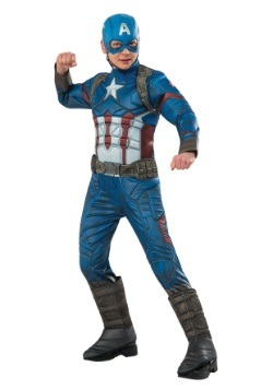Boys Captain America Elite Civil War Costume