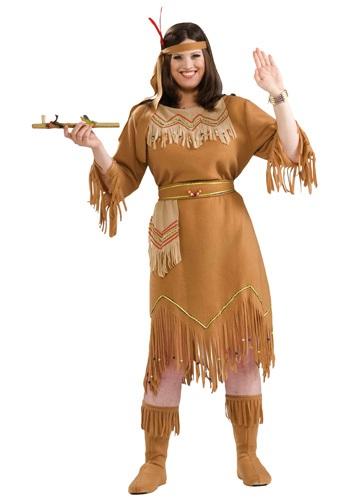 Women's Plus Size Native American Costume
