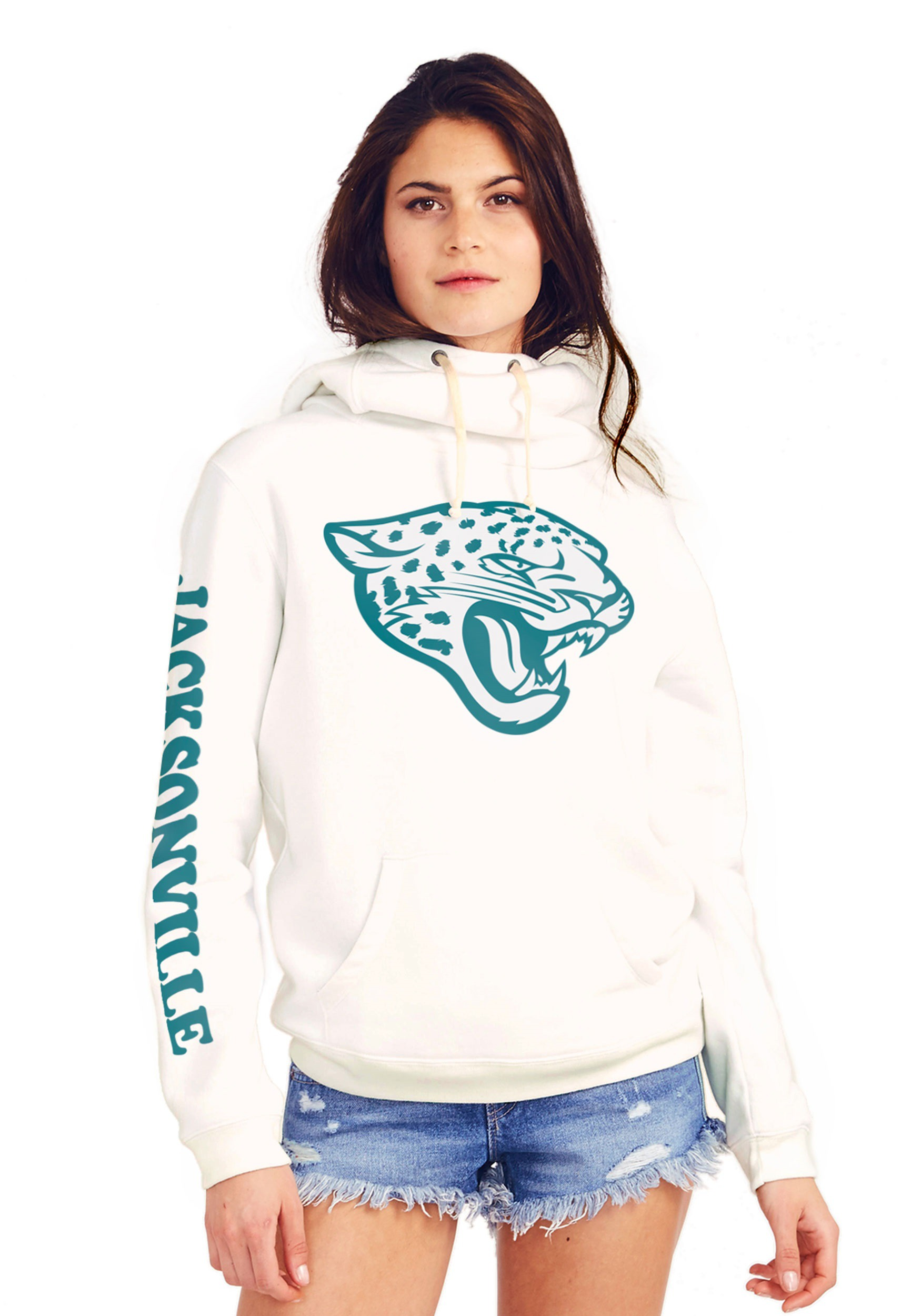 Jacksonville Jaguars Women's Cowl Neck Hooded Sweatshirt