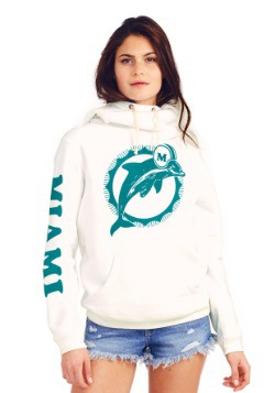 Miami Dolphins Cowl Neck Women's Hoodie