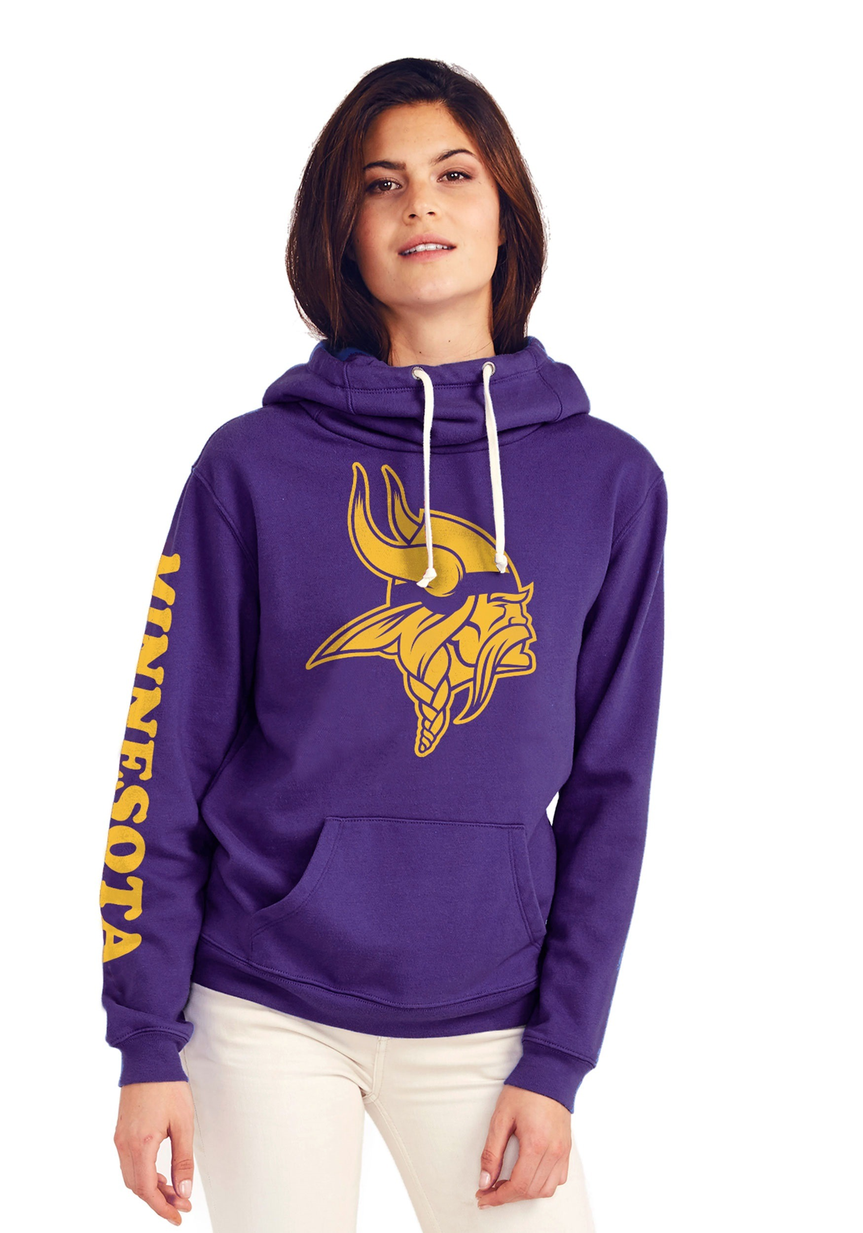 competitive price 00850 bc98d Minnesota Vikings Women's Cowl Neck Hooded Sweatshirt