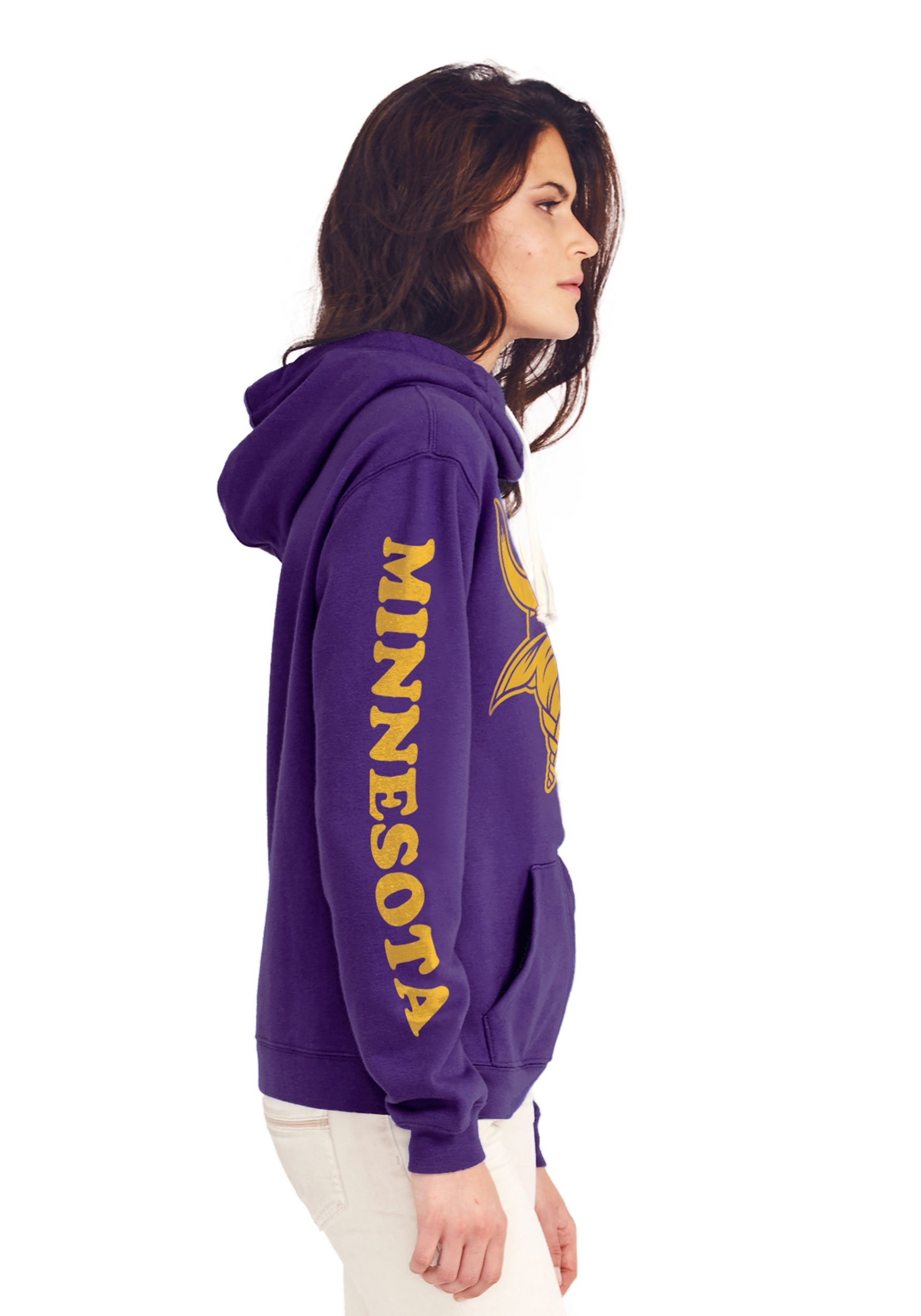 competitive price c234a 0dde6 Minnesota Vikings Women's Cowl Neck Hooded Sweatshirt