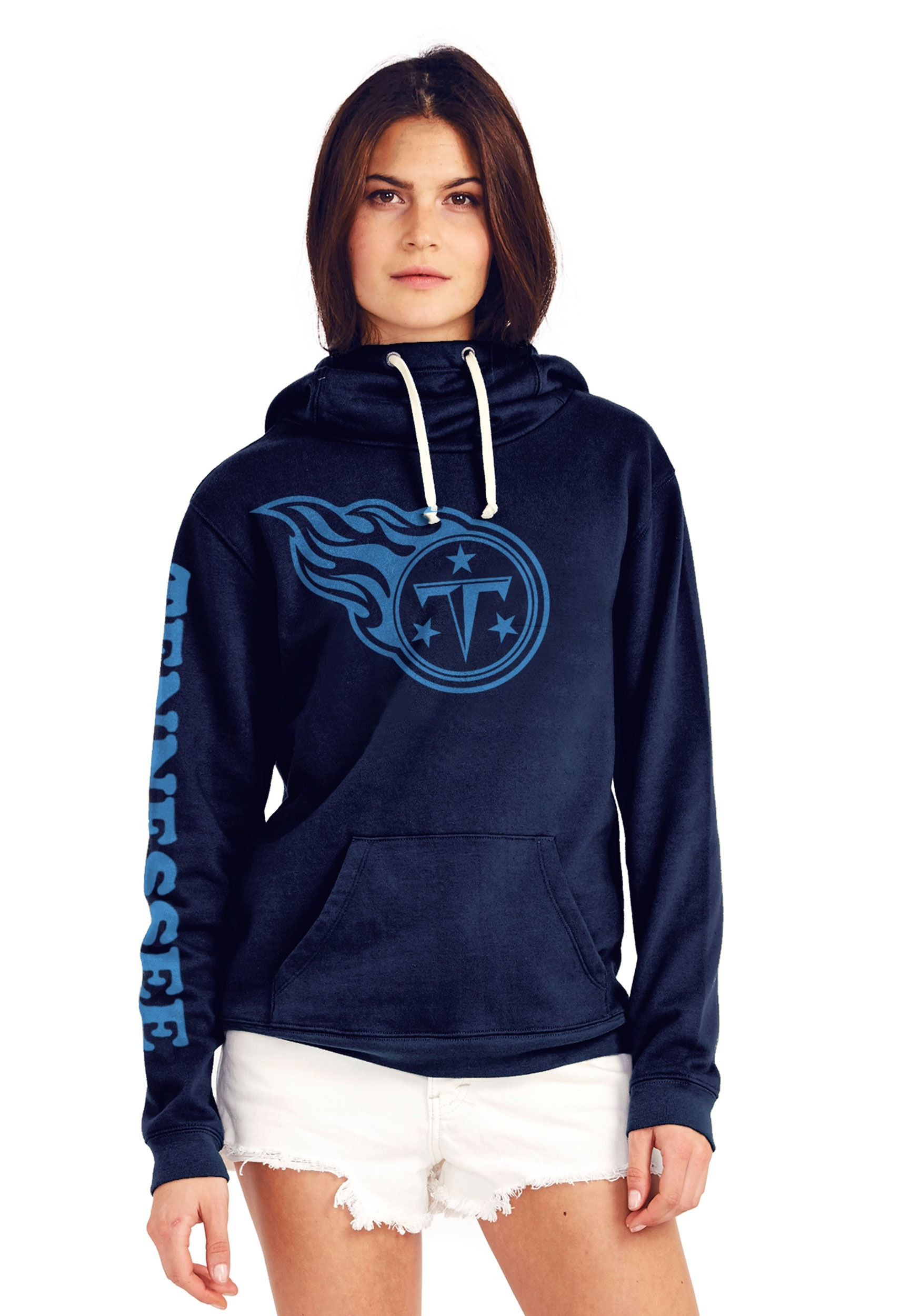 Tennessee Titans Women s Cowl Neck Hooded Sweatshirt 1dac9211a75d