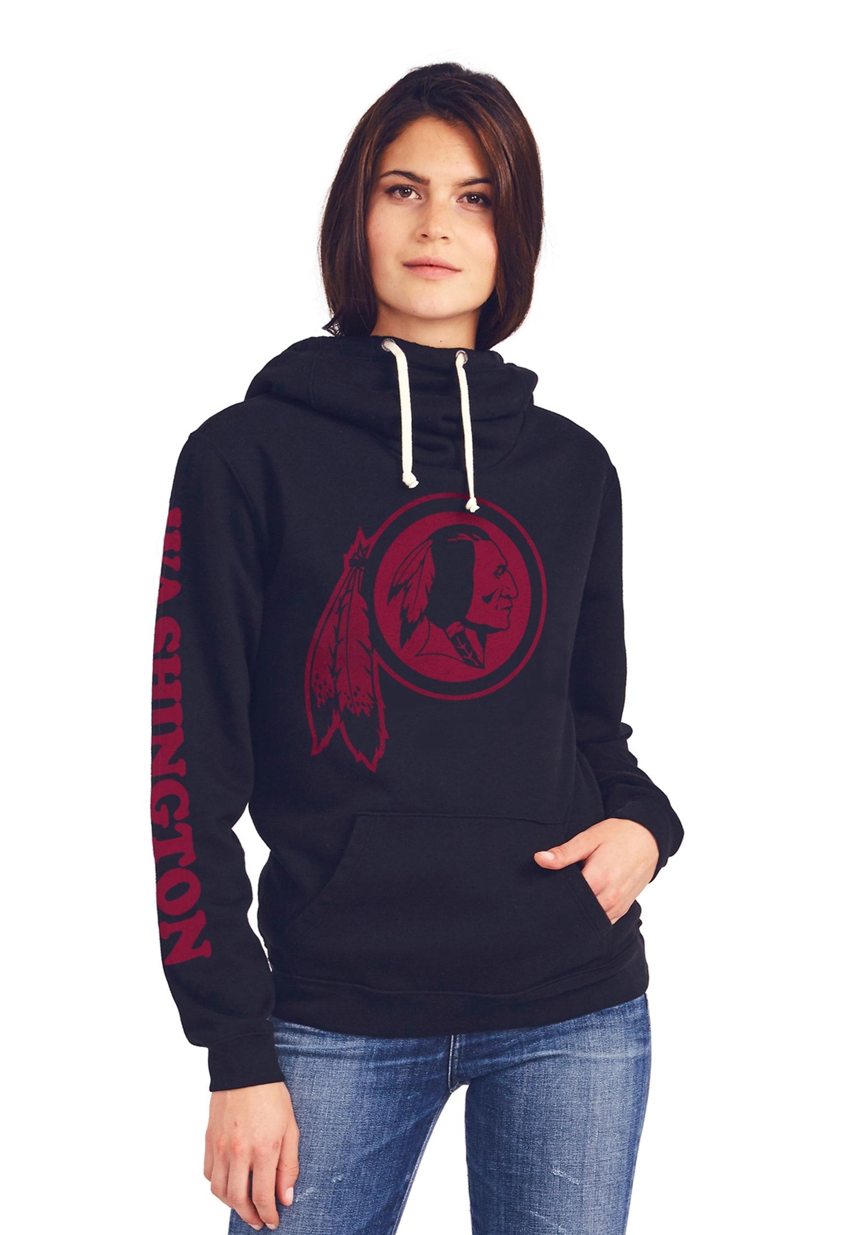 Washington Redskins Women's Cowl Neck Hooded Sweatshirt