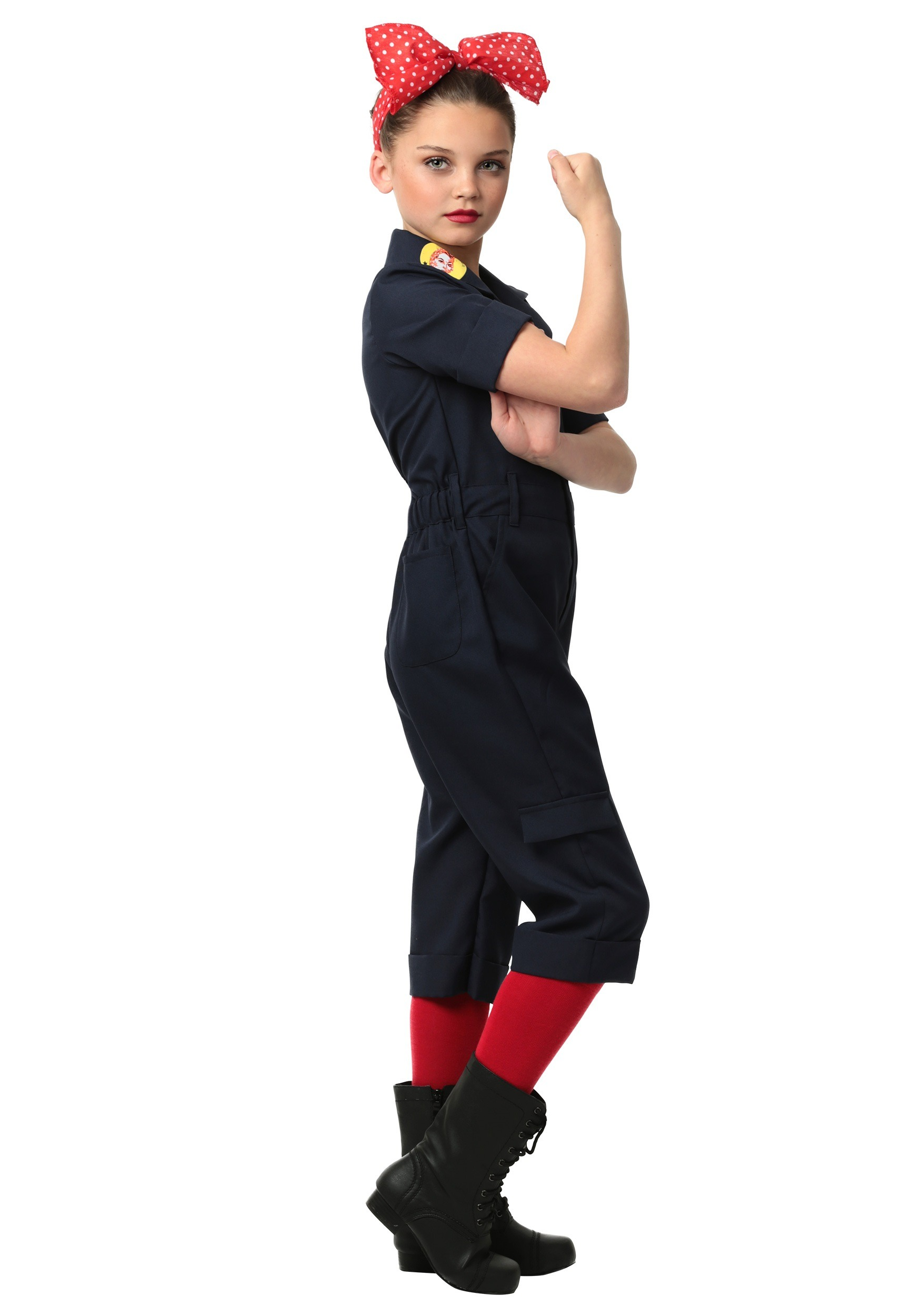 child hardworking lady kids costume