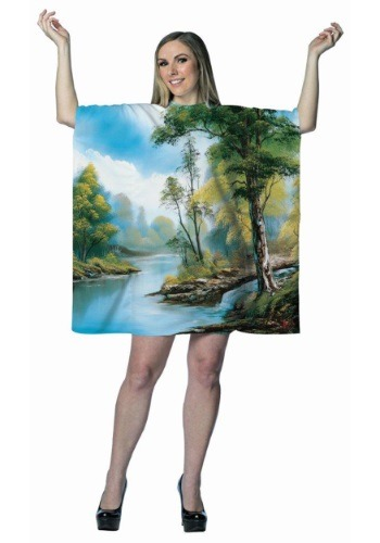 Women's Bob Ross Painting Dress Costume
