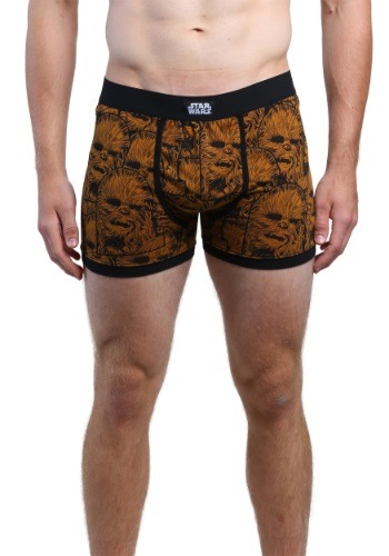 Star Wars Chewie All Over Face Mens Boxer Briefs MASWSRB7HMNFTP1XXS