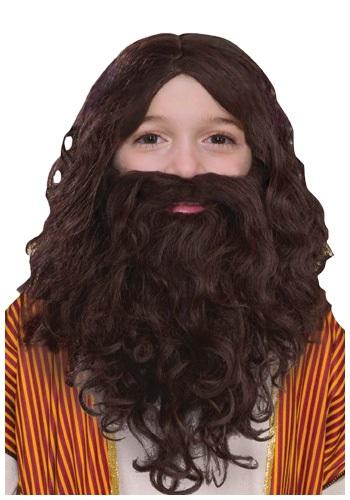 Desert Wanderer Kid's Wig and Beard Set