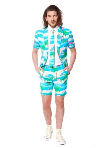 OppoSuits Flamingo Summer Suit for Men
