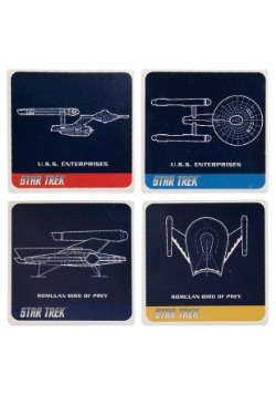 Star Trek 4 pc Ceramic Coaster Set