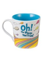 "Dr. Suess ""Oh the Places You'll Go"" 12 oz Ceramic Mug"