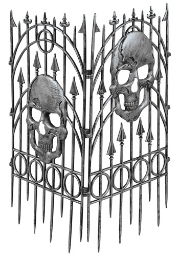 Spooky Skull Fence Halloween Decorations