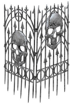 Spooky Skull Fence Halloween Decorations