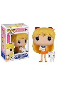 POP Sailor Moon Sailor Venus With Artemis Vinyl Figure