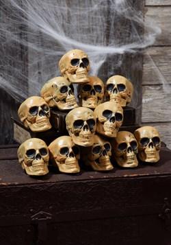 Twelve Piece Bag of Skulls Halloween Decor