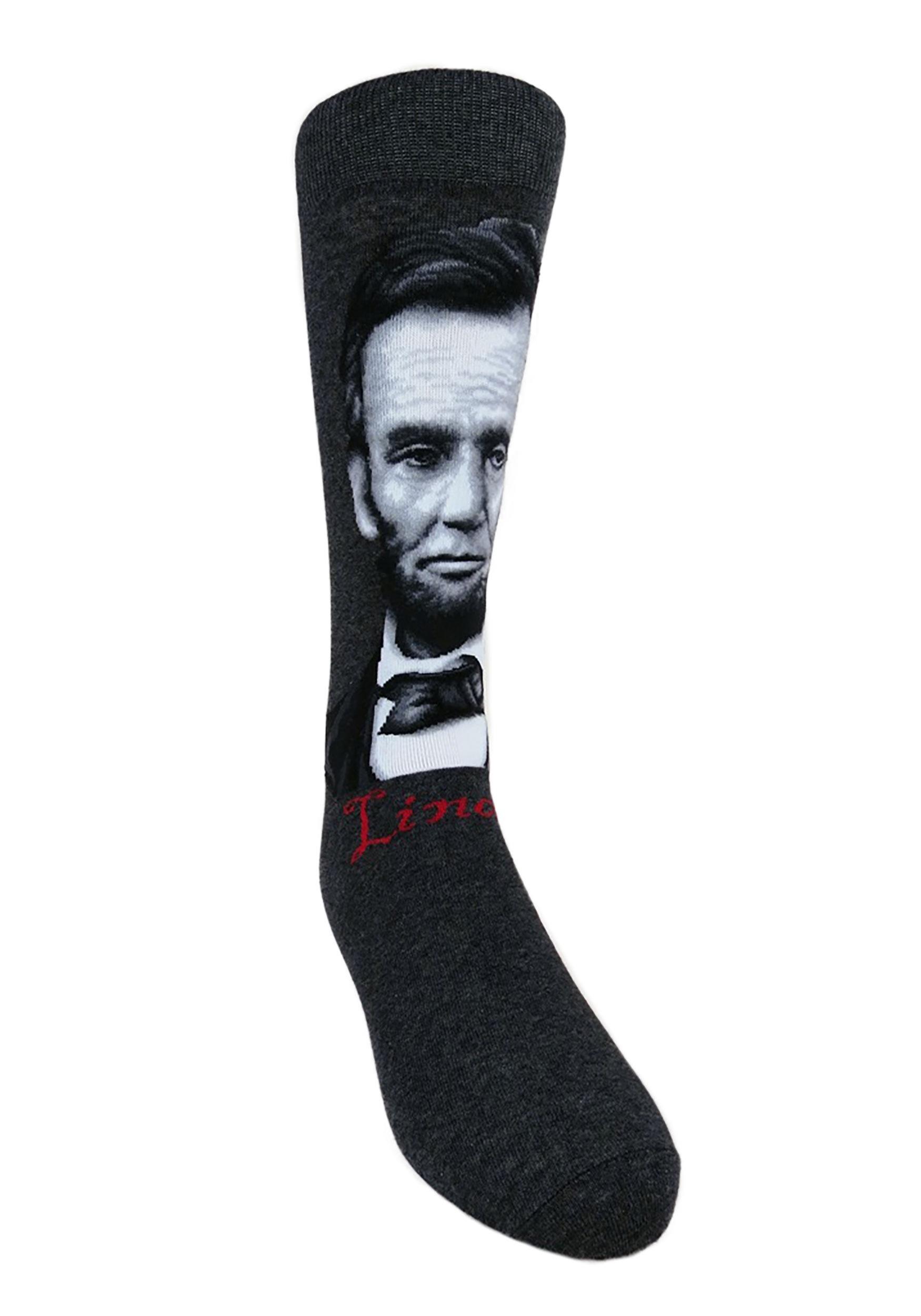 Abe lincoln mens crew socks