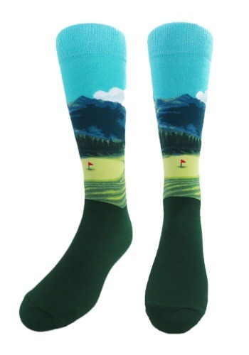 Golf Course Men's Crew Socks JHJS01JL03