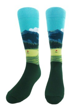 Golf Course Men's Crew Socks