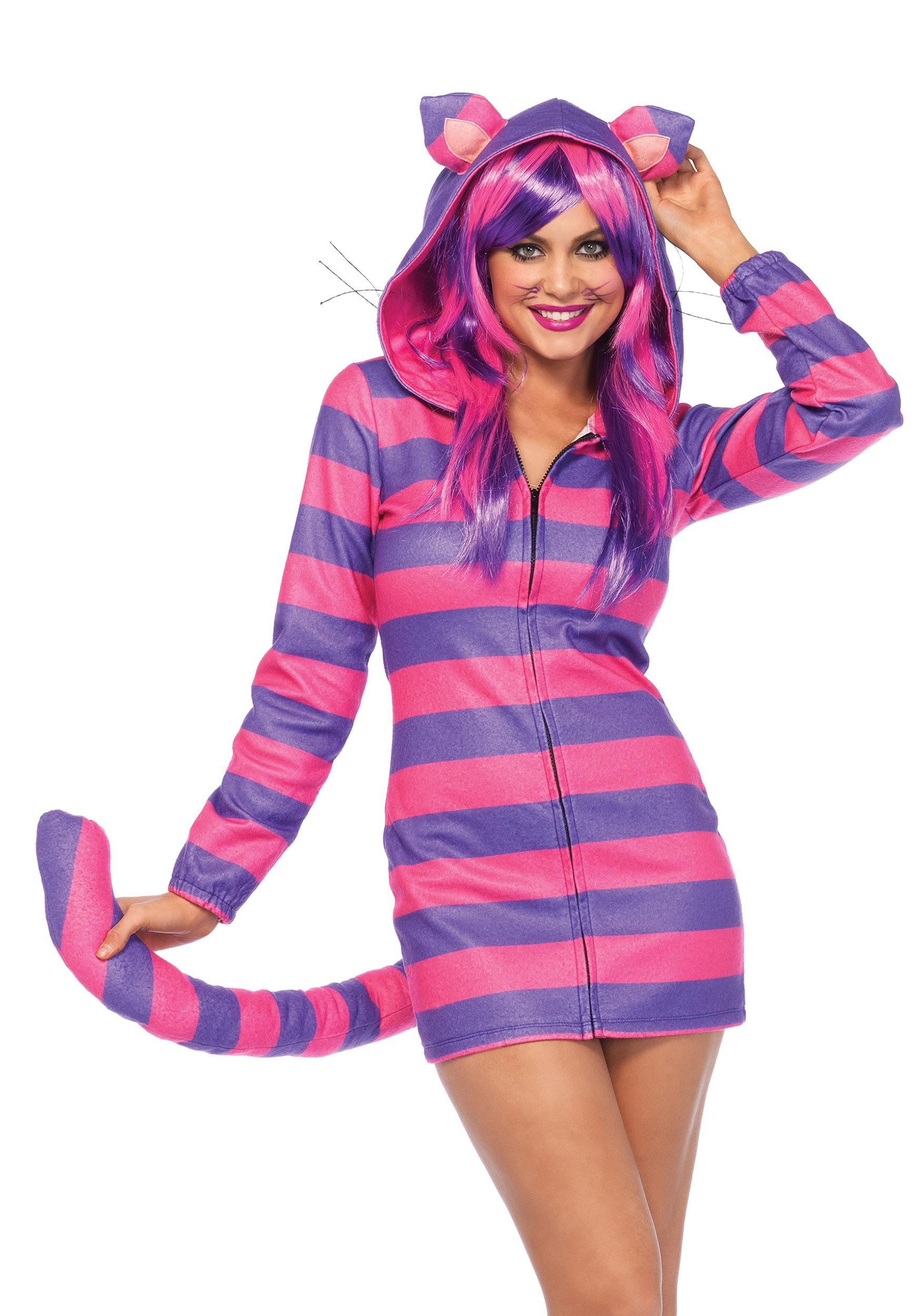 cozy cheshire cat womens costume