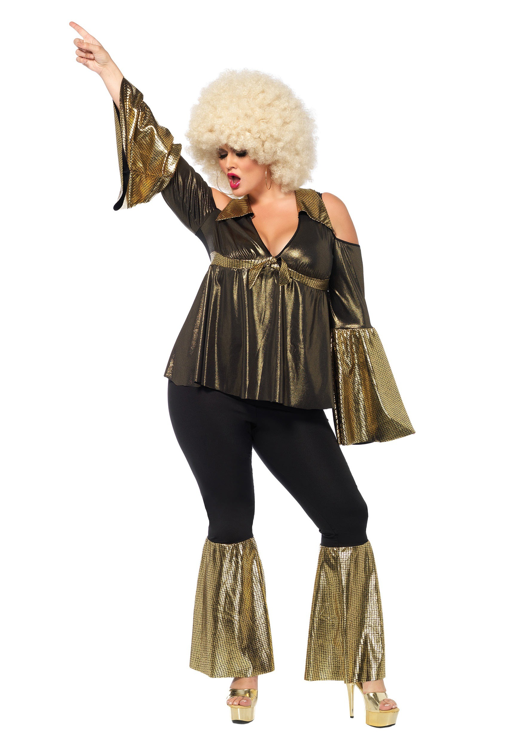 1af12551eaa Plus Size Womens Disco Costumes   ... 70s Costumes Plus Size Women ...