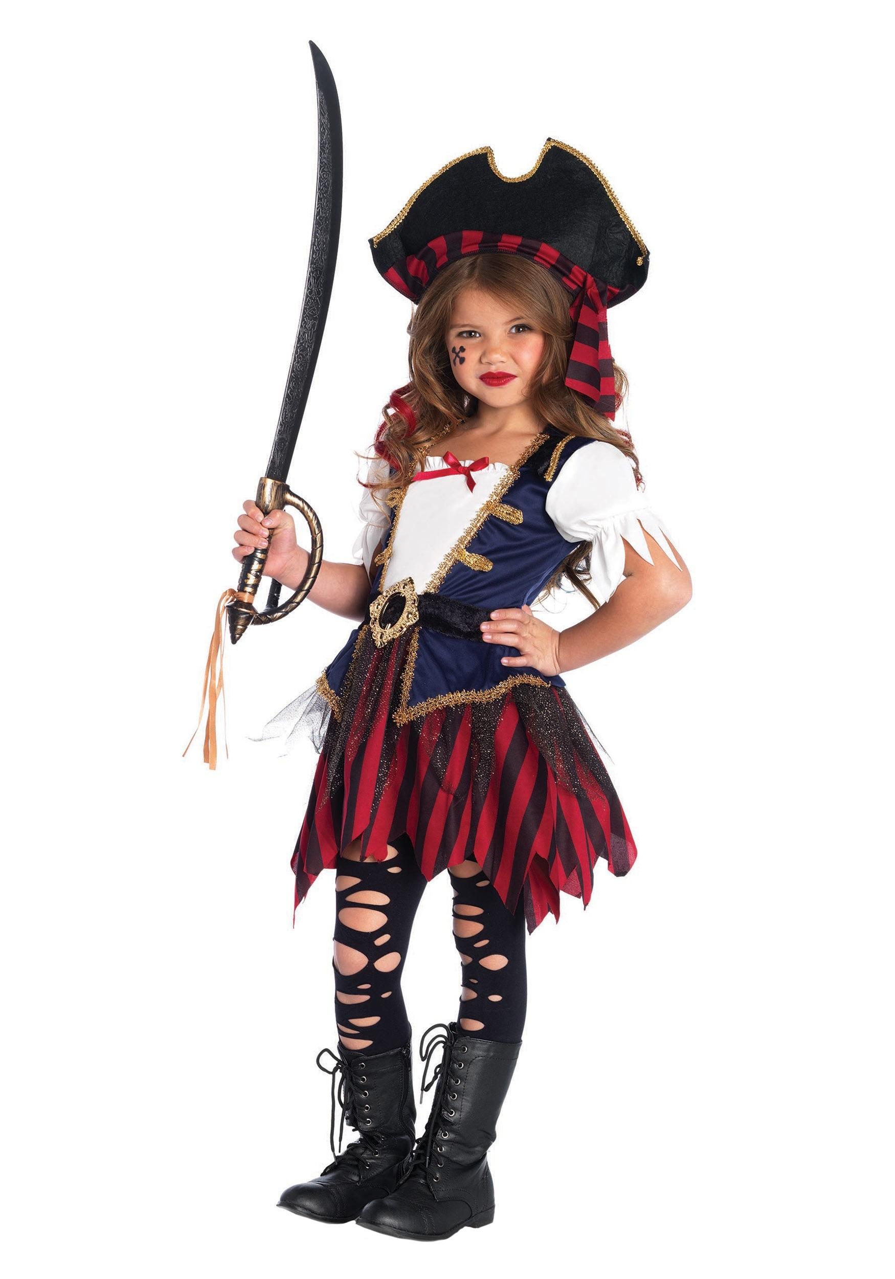 Caribbean Pirate Girl Costume  sc 1 st  Fun.com & Caribbean Pirate Costume for Girls