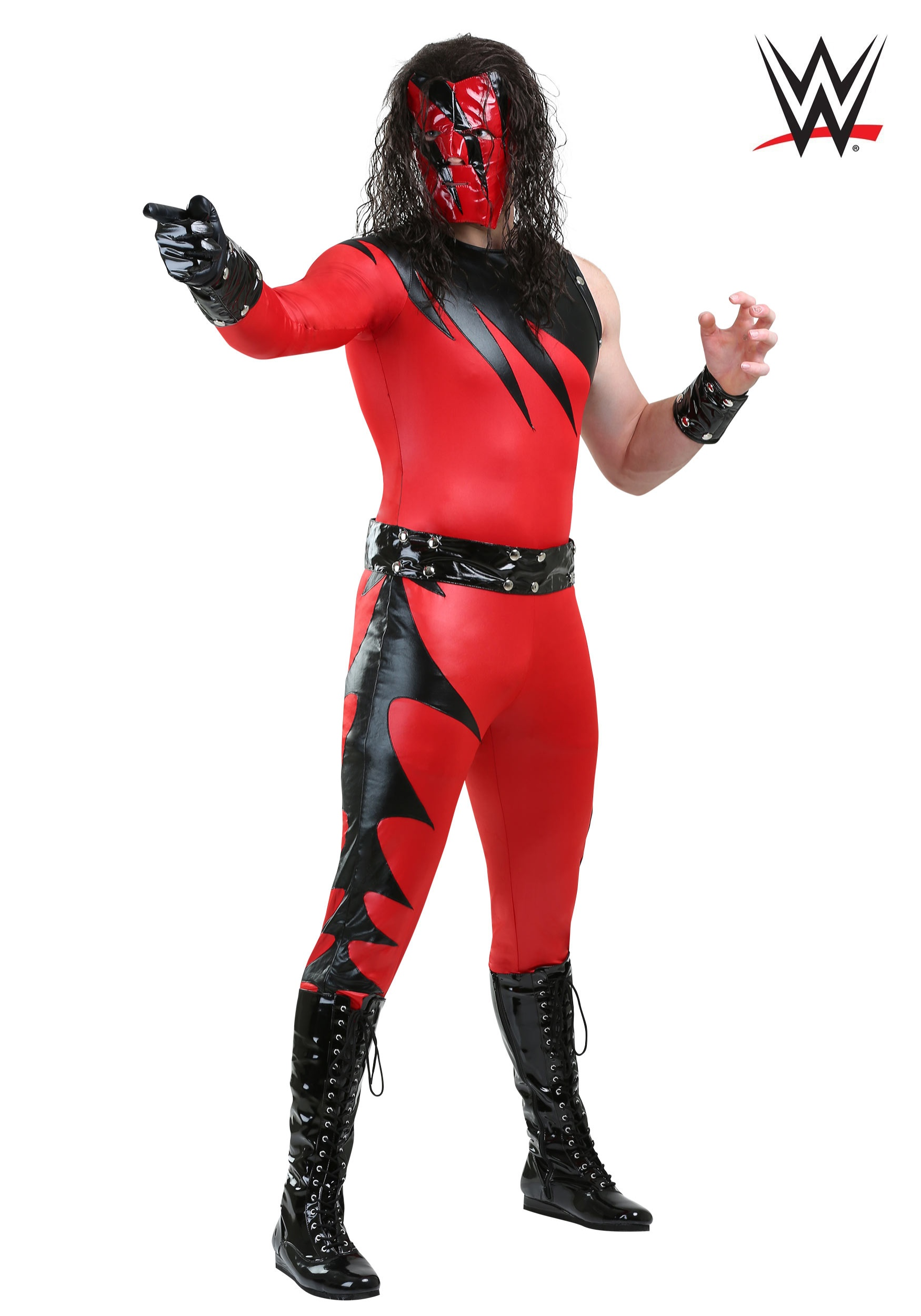 Wwe Plus Size Kane Costume For Adults