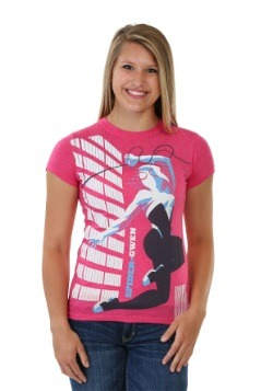 Spider Gwen Michael Cho Juniors T-Shirt