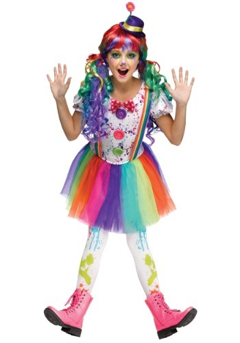Crazy Color Girls Clown Costume