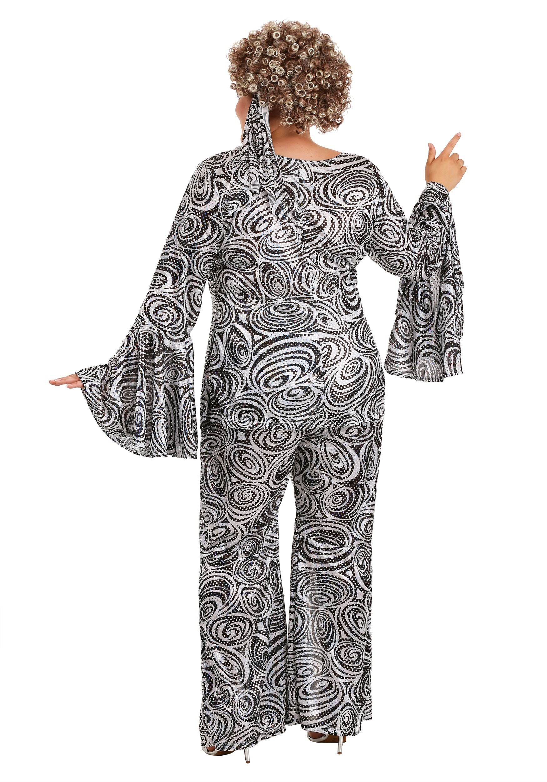 Women\'s Foxy Disco Lady Plus Size Costume