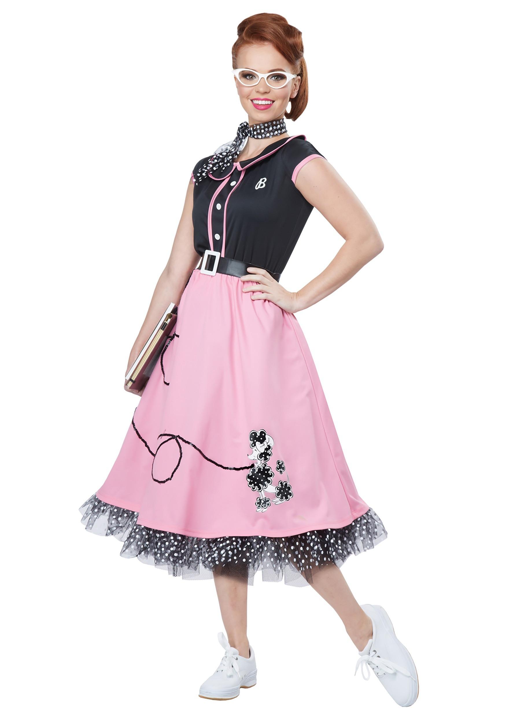 Girls Pink Ladies Costume Image Is Loading Womens Girls Pink