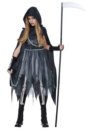 Girls Scary Reaper Costume