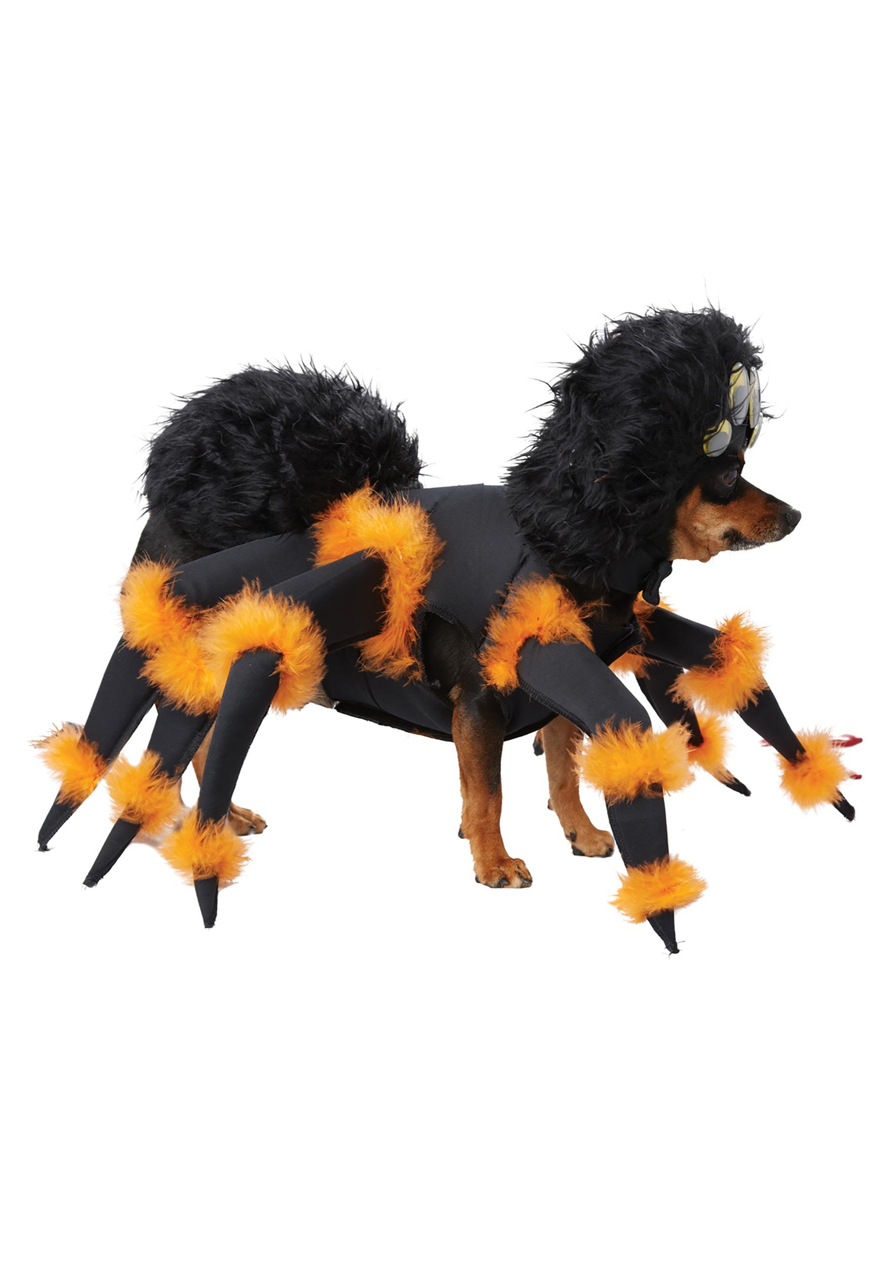 Tarantula Stuffed Animal, Giant Spider Dog Fancy Dress Creepy Tarantula Plush Deluxe Pet Halloween Costume