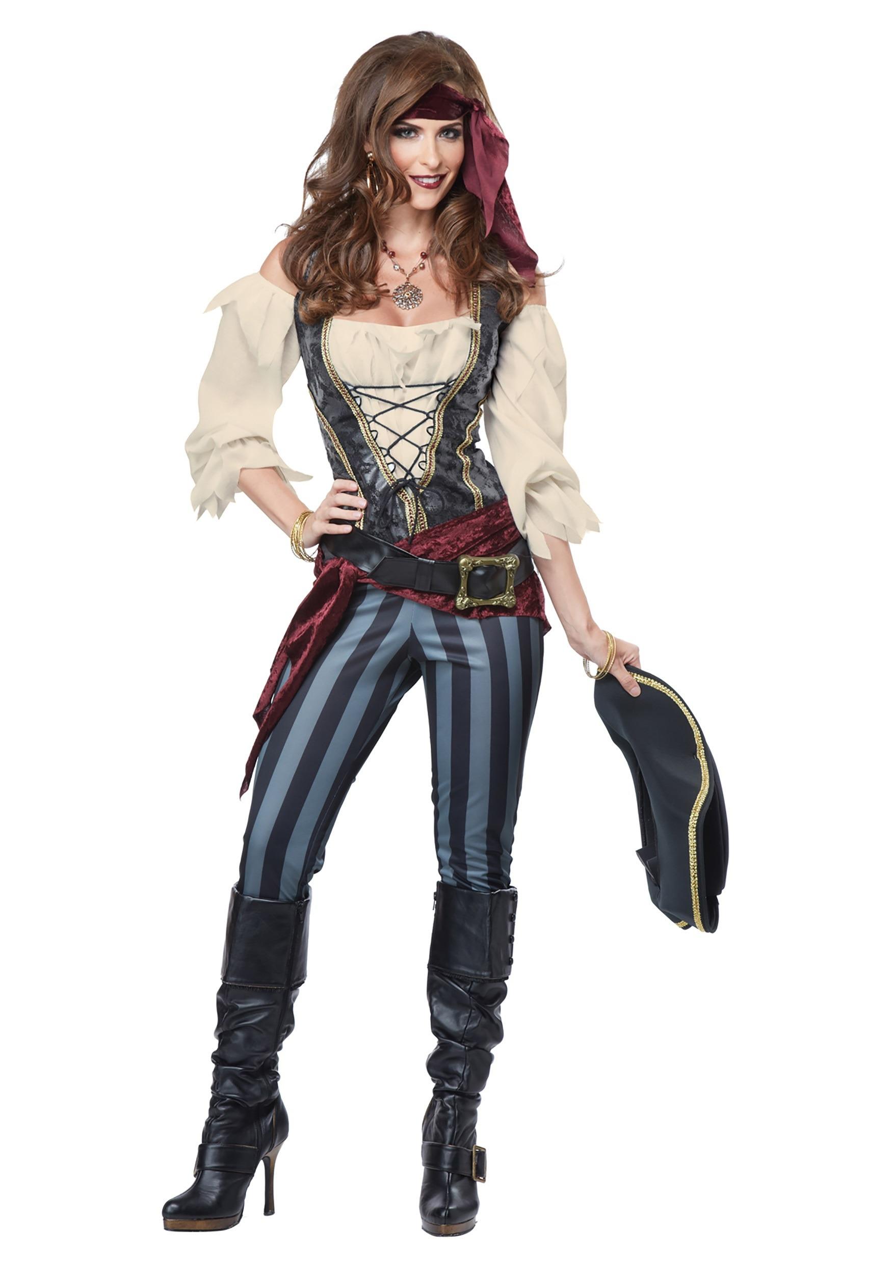 Lady Pirate Womens Adult Buccaneer Maiden Halloween Costume