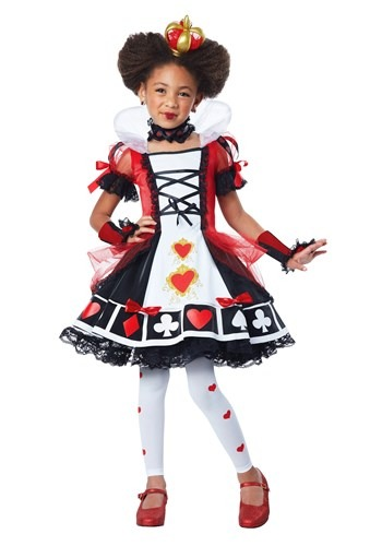Deluxe Queen of Hearts Girls Costume