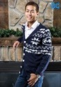 Mens Christmas Batman Cardigan