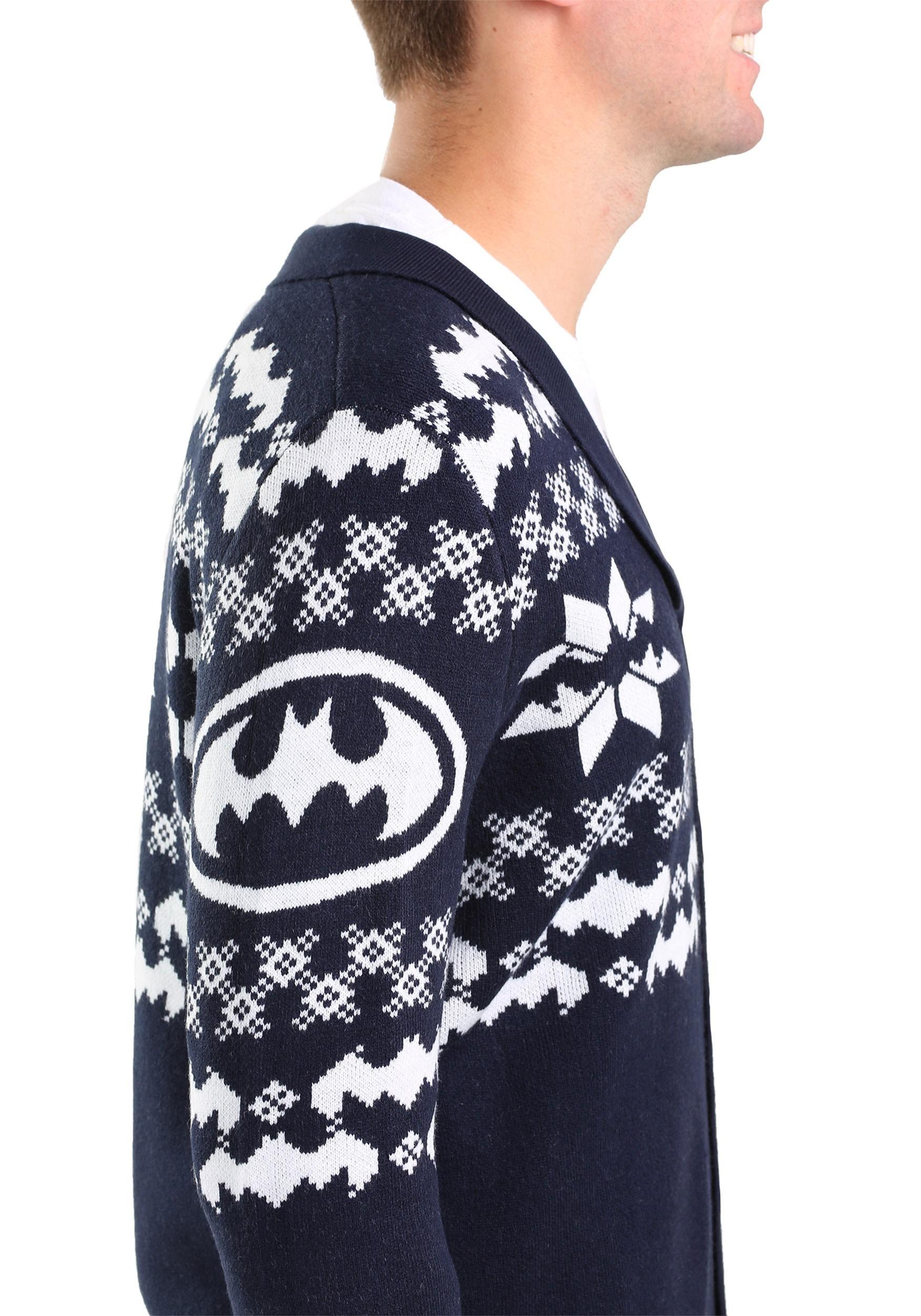 Batman Ugly Christmas Cardigan for Men