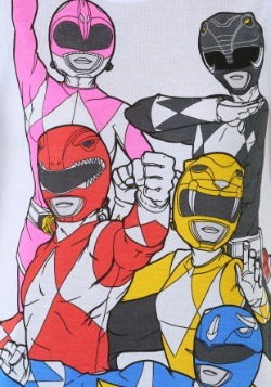Power Rangers Panel Print Juniors Muscle Tank 1