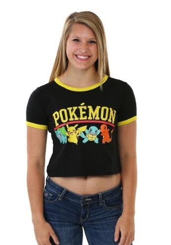 Pokemon Starter Group Juniors Ringer Tee