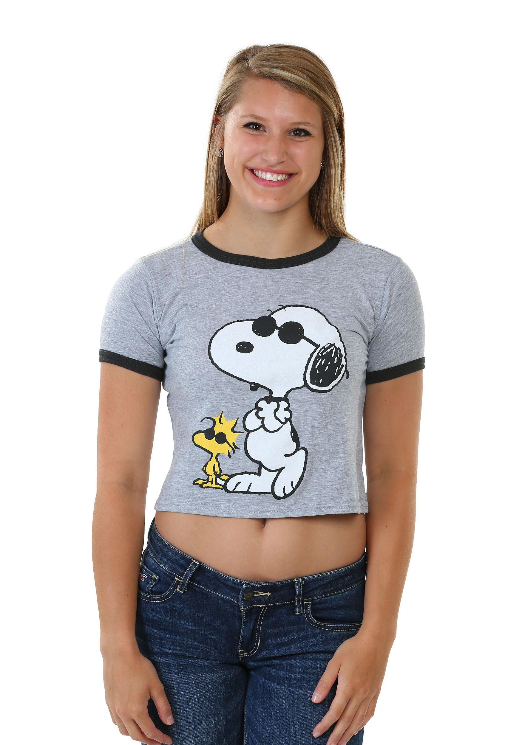 Peanuts Joe Cool Juniors Ringer Tee