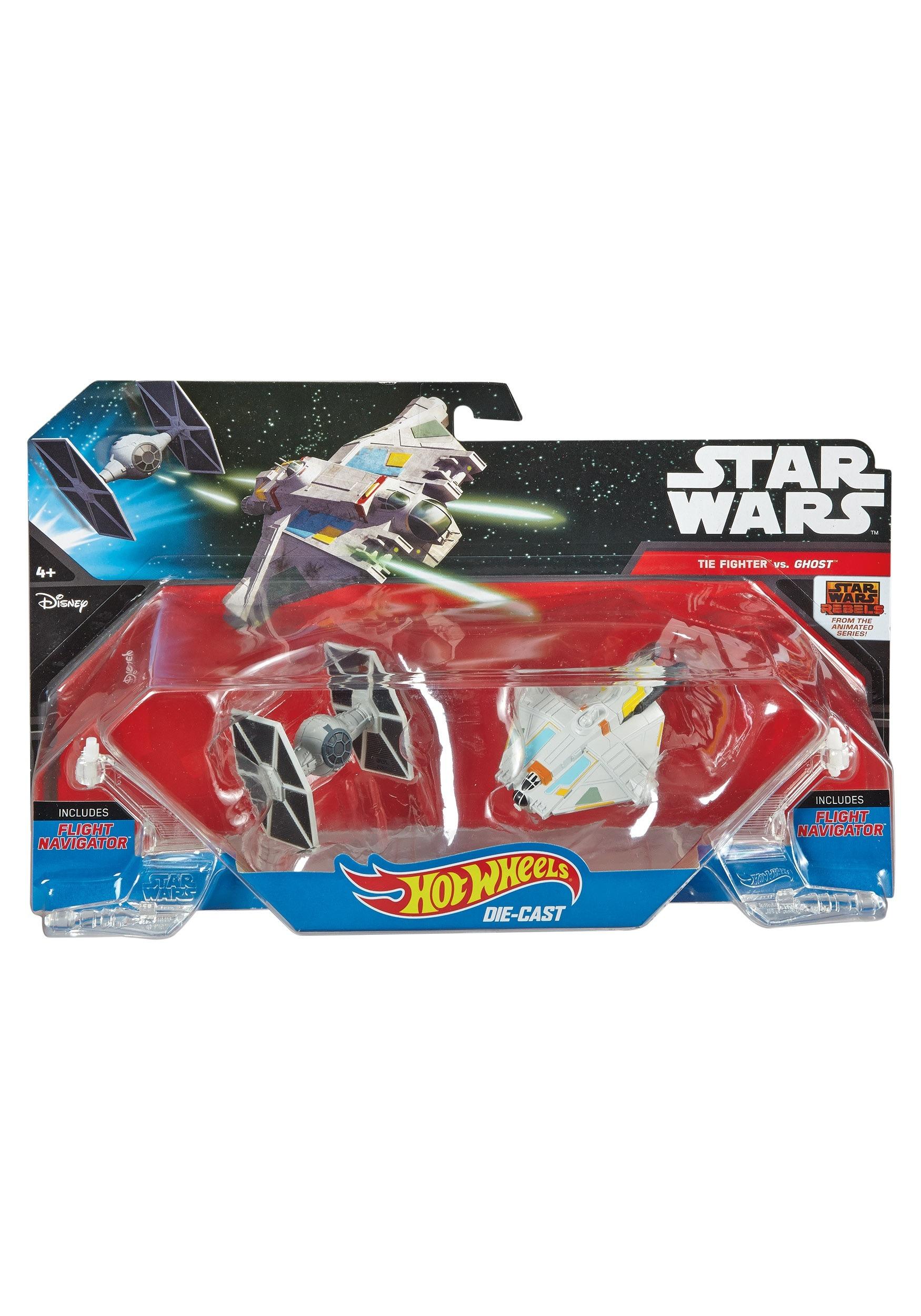 Hot Wheels Star Wars Rebels Ghost vs TIE Fighter MLDLP58