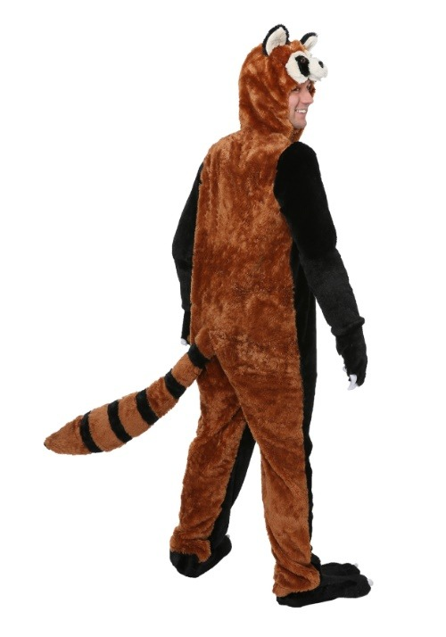 Adult Red Panda Costume back