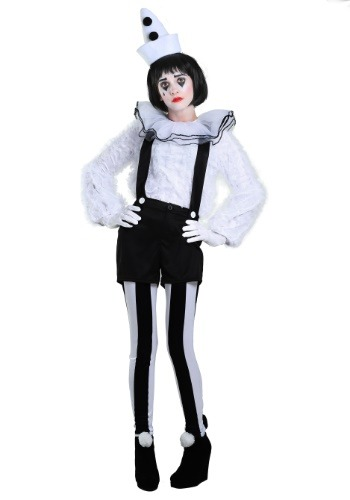Womens Vintage Pierrot Clown Costume