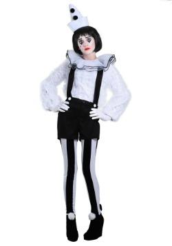 Womens Vintage Pierrot Clown Costume