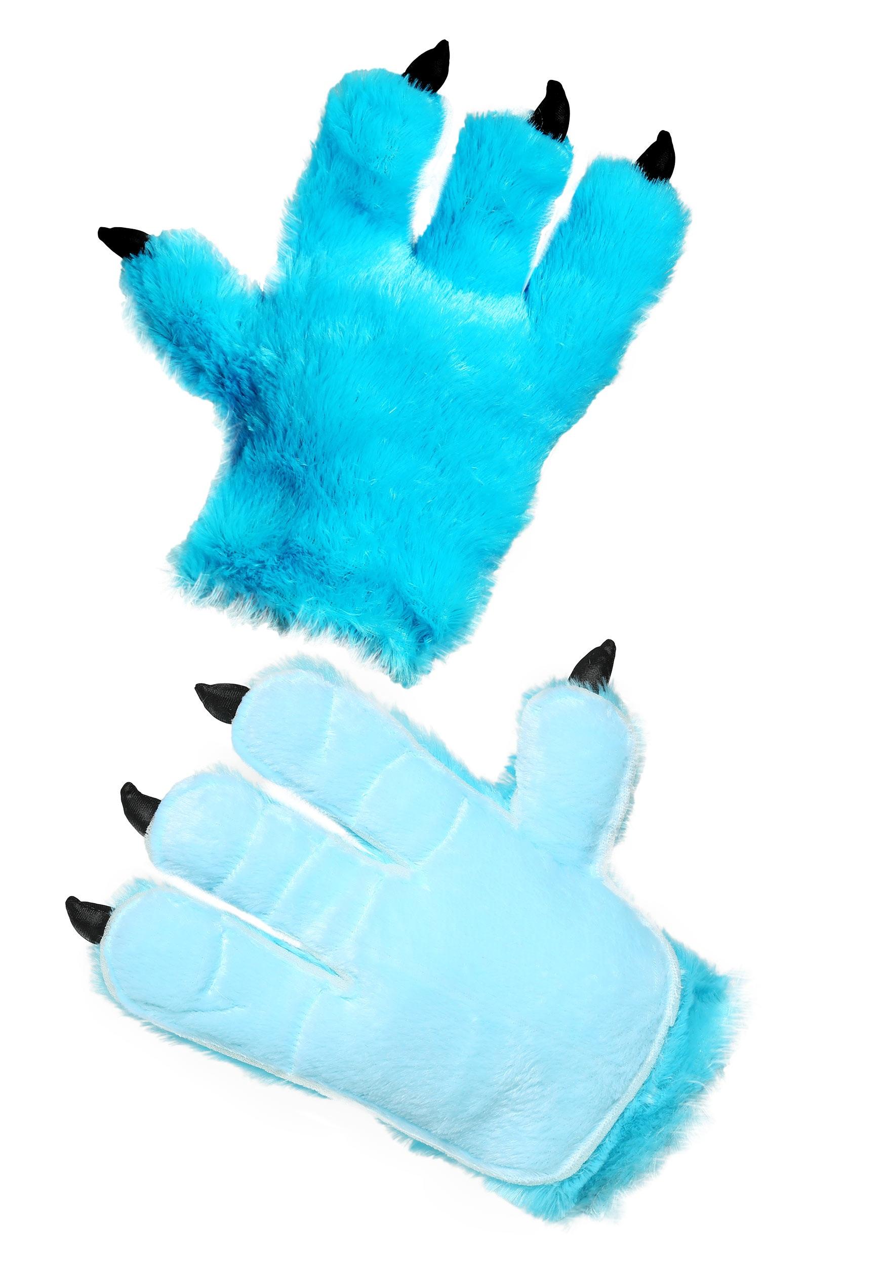 Blue monster adult hands