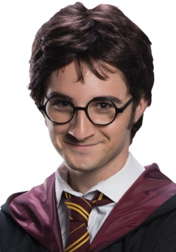 Adult Harry Potter Wig & Tattoo Set