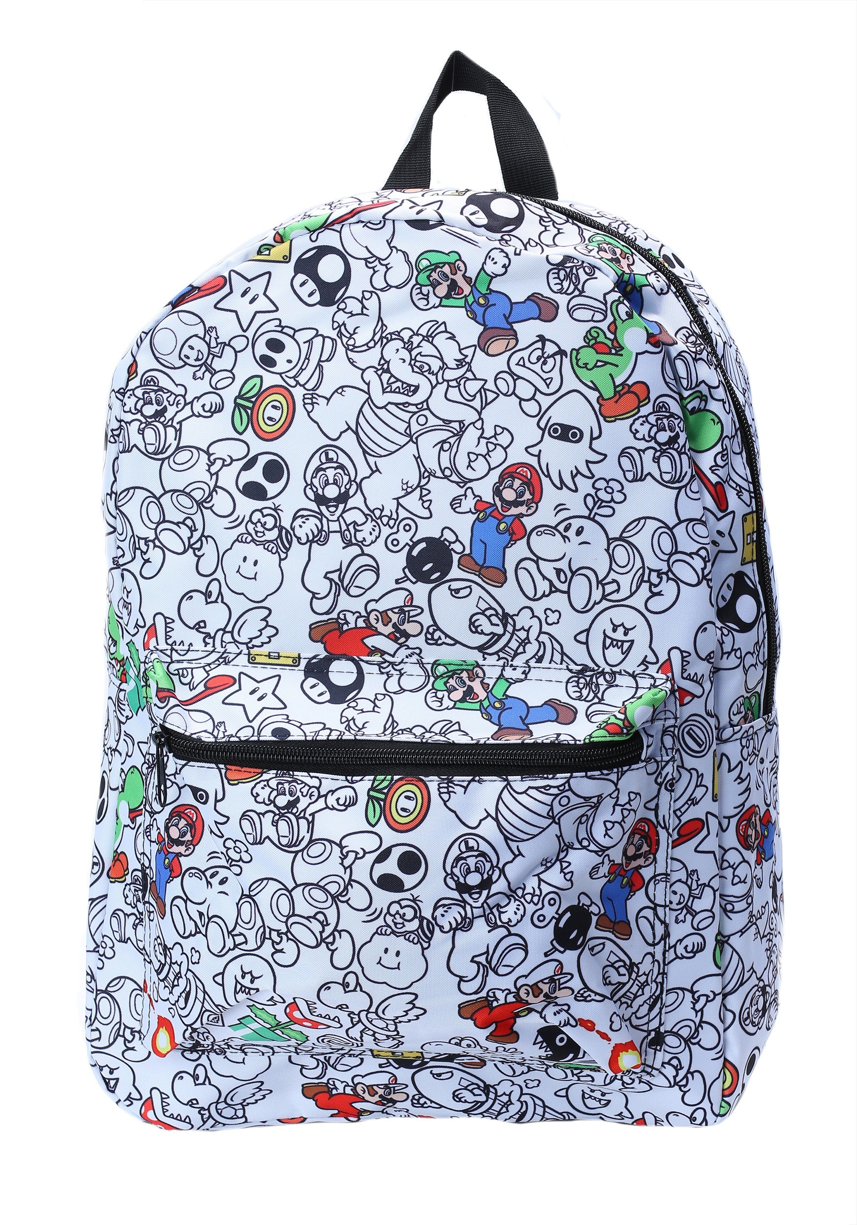 super mario characters all over print backpack